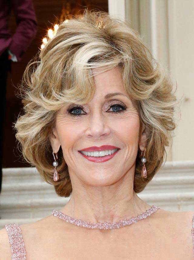 Medium Hair Hairstyles Women Over 50 as well Jane Fonda Hairstyle For ...