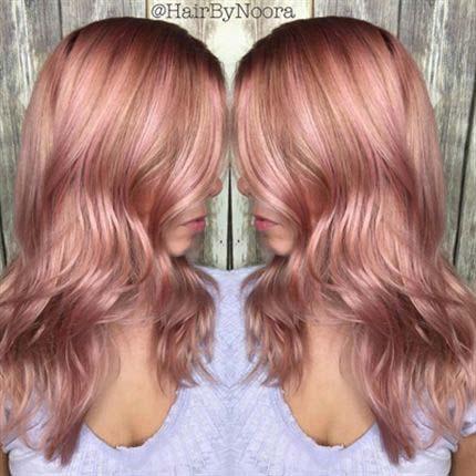 hit ovog meseca zlatno roza boja kose efrizer