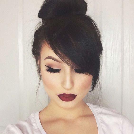 šiške u stranu frizura za srcolik oblik lica