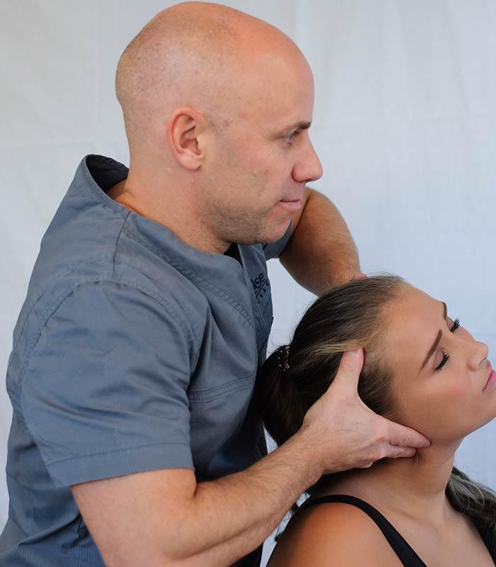 masaža tjemena glave