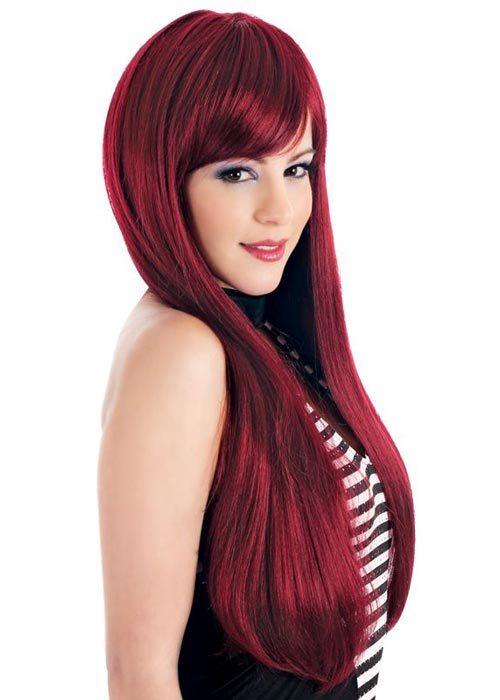 crvena dugačka kosa