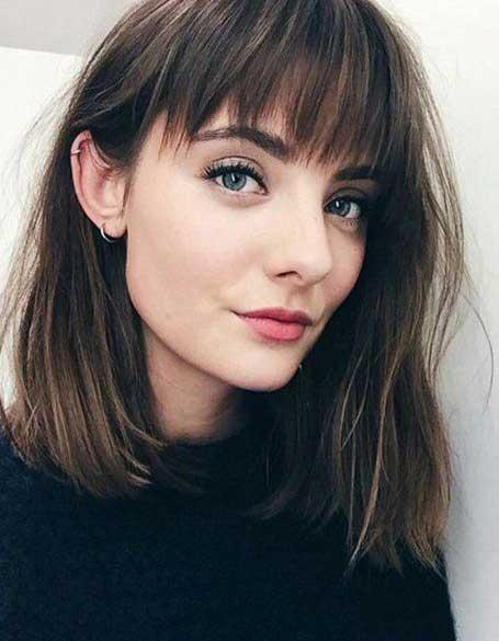 istanjene šiške - braon kosa