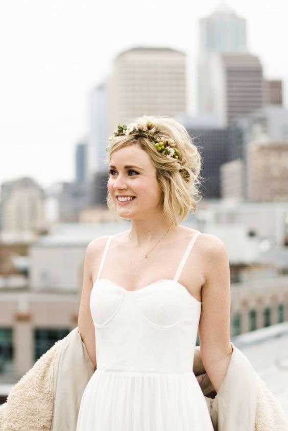 kratka plava kosa - svečana varijanta
