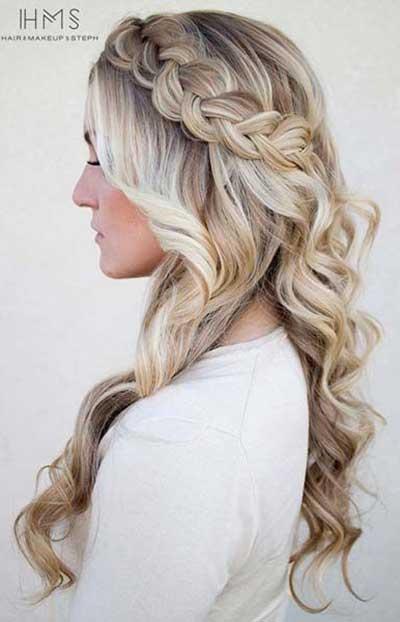Svečana frizura za placu kosu - Velika pletenica