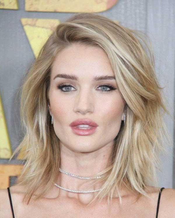 stepenasta kosa do ramena - plava kosa - četvrtast oblik lica