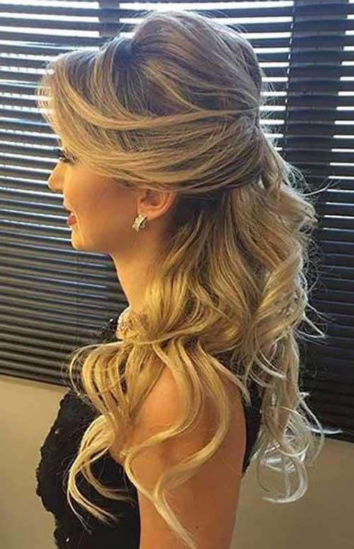 svečana frizura - plava pokupljena kosa