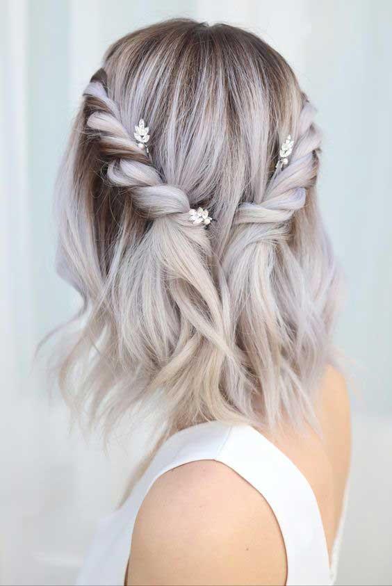 plava kosa- svečana varijanta