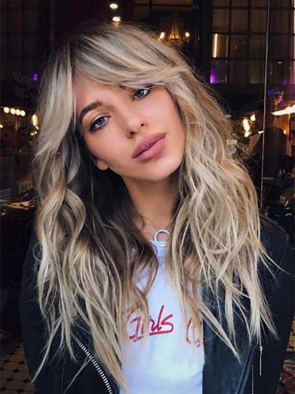 Duga valovita kosa sa šiškama koje su izvijene ka vani