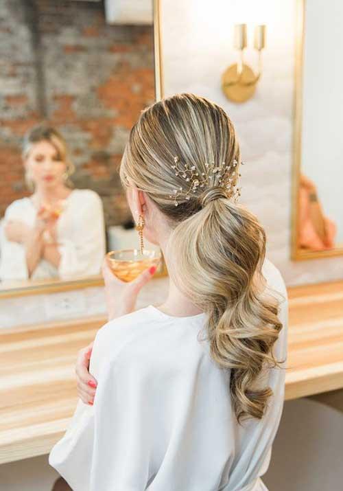 Rep natapiran sa ukrasnom šnalom frizure za udaju
